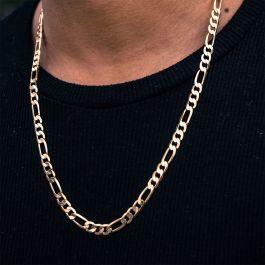幅5mm ゴールド フィガロ チェーン ネックレス