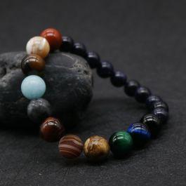 ファッション 天然石 宇宙惑星 数珠 ブレスレット