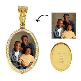 18Kゴールド 楕円形 カスタマイズ ペンダント