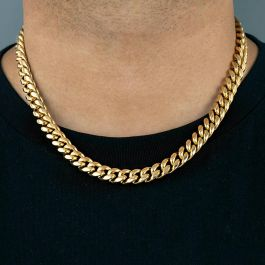 12mm ゴールド キューバン ネックレス