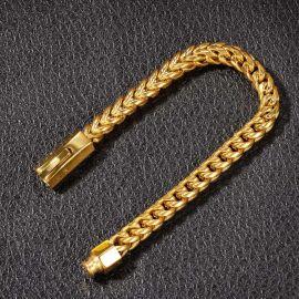 8mm ×20cm18kゴールドフランコブレスレット