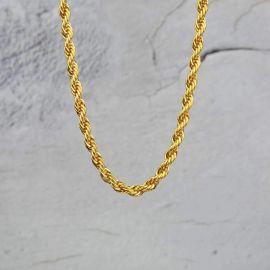 幅6mm ゴールド ロープ チェーン ネックレス