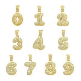 ゴールド 数字 ペンダント