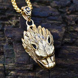 ゴールド オオカミ ペンダント