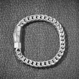 8mm ×20cmホワイトゴールドフランコブレスレット