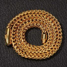 幅10mm×60cmゴールドフランコチェーンネックレス