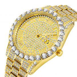 ゴールド ローマ数字 メンズ ウォッチ 時計