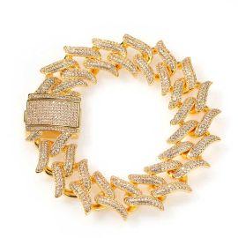 ゴールド20mmイバラの冠ブレスレット