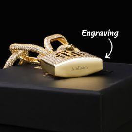 ゴールド 調節可能 バイクリンクチェーン付き ロゴ ロッキング クラスプ ペンダント