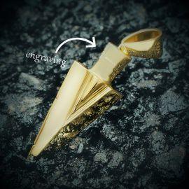 ゴールド Arrow Spear ペンダント