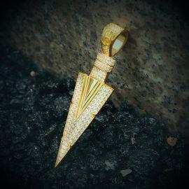 ゴールド Arrow Spearペンダント
