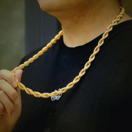 幅10mmゴールドロープチェーンネックレス