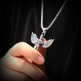 祈る天使チタン鋼ペンダント