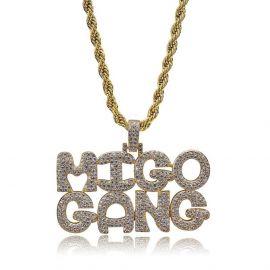 ゴールド MIGO GANG ペンダント