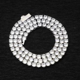 幅5mm ホワイトゴールド テニス ネックレス