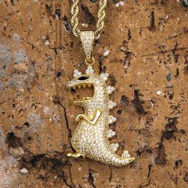 ゴールド 恐竜 ペンダント