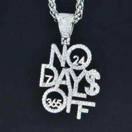 No Days Off ホワイトゴールド ペンダント