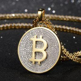 ゴールド ビット コイン ペンダント
