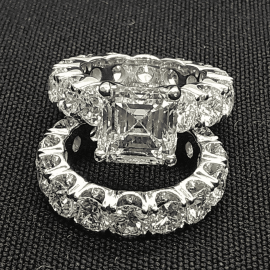 3.2 Ct  アッシャーカット リング セット