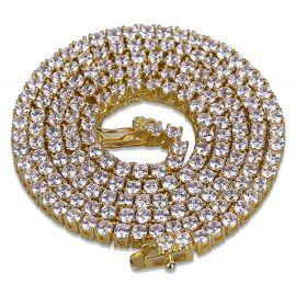 6mm ゴールド テニス ネックレス
