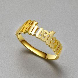 パーソナライズされたネーム指輪