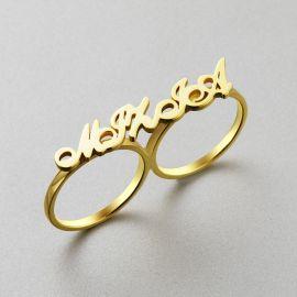 パーソナライズ 2本 指輪