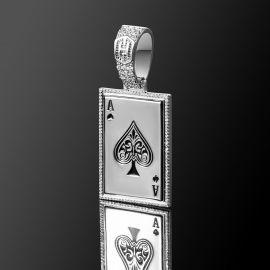 スペードのエース ポーカーカード ペンダント