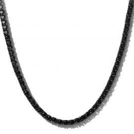 5mm ブラックゴールド ブラックストーン テニスチェーン