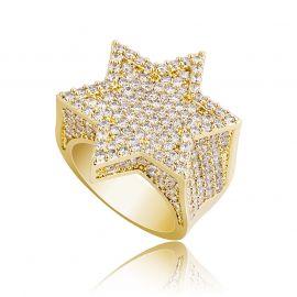 ゴールド ダビデの星 リング