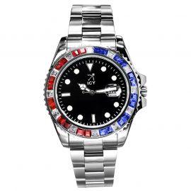 ホワイトゴールド 40mm ブラック ルミナス ダイヤル ウォッチ 時計