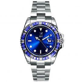 ホワイトゴールド 40mm ブルー ルミナス ダイヤル ウォッチ 時計