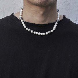 白と黒 パール ネックレス