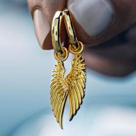 ゴールド 天使の翼 イヤリング