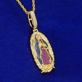 ゴールド グアダルーペの聖母 ペンダント