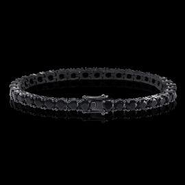 ブラックゴールド 5mm ブラックCZダイヤ テニス ブレスレット