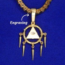 ゴールド エジプト ピラミッド ホルスの目 ペンダント