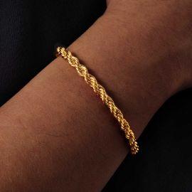 ゴールド 5mm ロープ ブレスレット