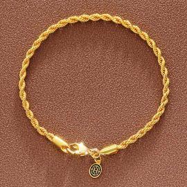 ゴールド 3mm ロープ ブレスレット
