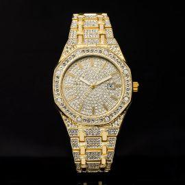 ゴールド 豪華 スタイリッシュな八角形 文字盤 時計