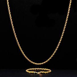 ゴールド 3mm ロープ リンク チェーン セット