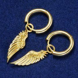 ゴールド 天使の翼 女性 ピアス