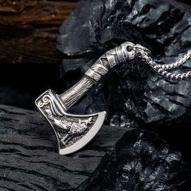 バイキング 斧 ステンレススチール ペンダント