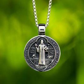 ヌルシアのベネディクトゥス メダル ステンレススチール ペンダント