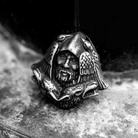 オーディン 狼 ステンレススチール ヴァイキング ペンダント