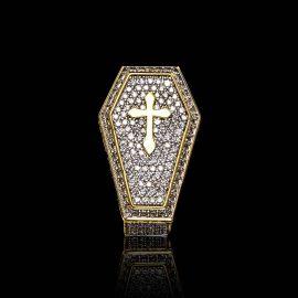 ゴールド クロス 棺 リング