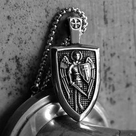 大天使聖 ミカエル シールド ステンレススチール ペンダント