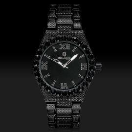 ブラックゴールド ルミナス ローマ数字 メンズ ウォッチ 時計
