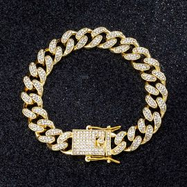 ゴールド 12mm マイアミ キューバ ブレスレット