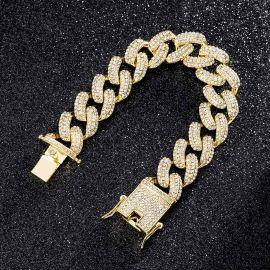 ゴールド 20mm マイアミ キューバ ブレスレット