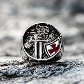 テンプル騎士団 十字軍 ステンレススチール リング